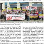 rassemblement contre l'austérité - Ouest France 19-10-14