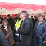 Didier Jousse, secrétaire générale de la CGT Sarthe a apporté le soutien de l'UD.